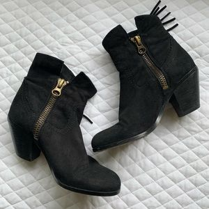 Sam Edelman Shoes - Sam Edelman Black Fringe Booties
